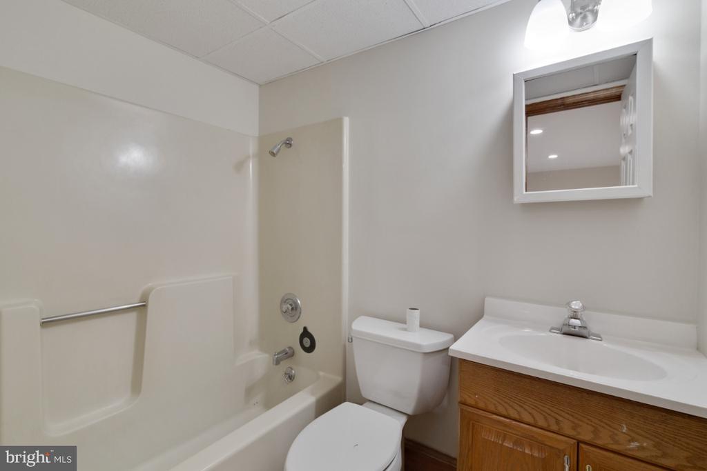 Full bath downstairs - 13613 BETHEL RD, MANASSAS