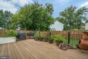 Trex Deck and fully fenced yard - 5502 VILLAGE CENTER DR, CENTREVILLE