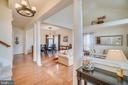 Hardwoods in living/dining/family rooms - 5502 VILLAGE CENTER DR, CENTREVILLE