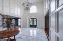 View of Marble Foyer and Custom Chandelier - 17814 RUNNING COLT PL, LEESBURG