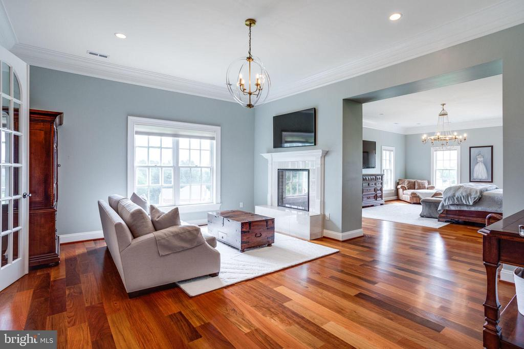 Master Suite Sitting Area with Fireplace - 17814 RUNNING COLT PL, LEESBURG