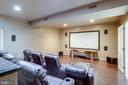 Movie Theater with Projector and Screen - 17814 RUNNING COLT PL, LEESBURG
