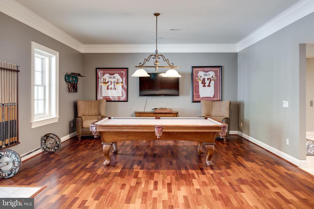 Game Room w/ French Doors leading to Pool & Patio - 17814 RUNNING COLT PL, LEESBURG
