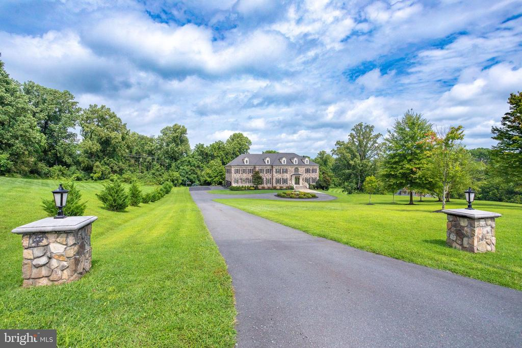 View of the Estate from the top of the driveway - 17814 RUNNING COLT PL, LEESBURG