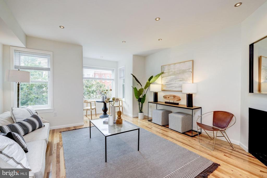 Sun-Drenched Living Room - 1534 T ST NW, WASHINGTON