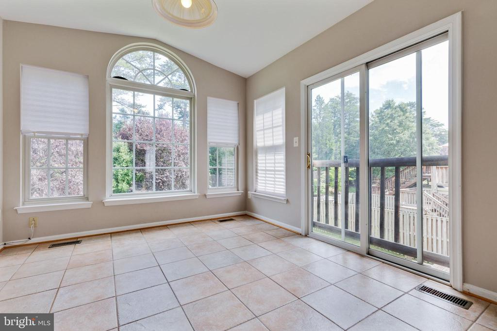 Sun Room Overlooks Wooded Rear Yard - 25232 DUNVEGAN SQ, CHANTILLY