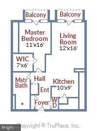 Floor Plan - 616 E ST NW #602, WASHINGTON