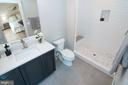 Shower in en-suite Main lvl bath - 9524 LEEMAY ST, VIENNA