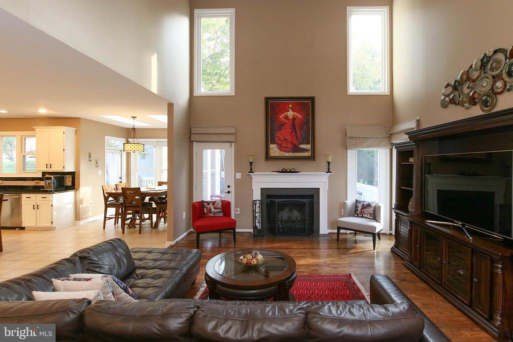 Cozy family room with wood burning fireplace! - 21211 EDGEWOOD CT, STERLING