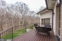 Balcony off Master Bedroom - 906 TURKEY RUN RD, MCLEAN