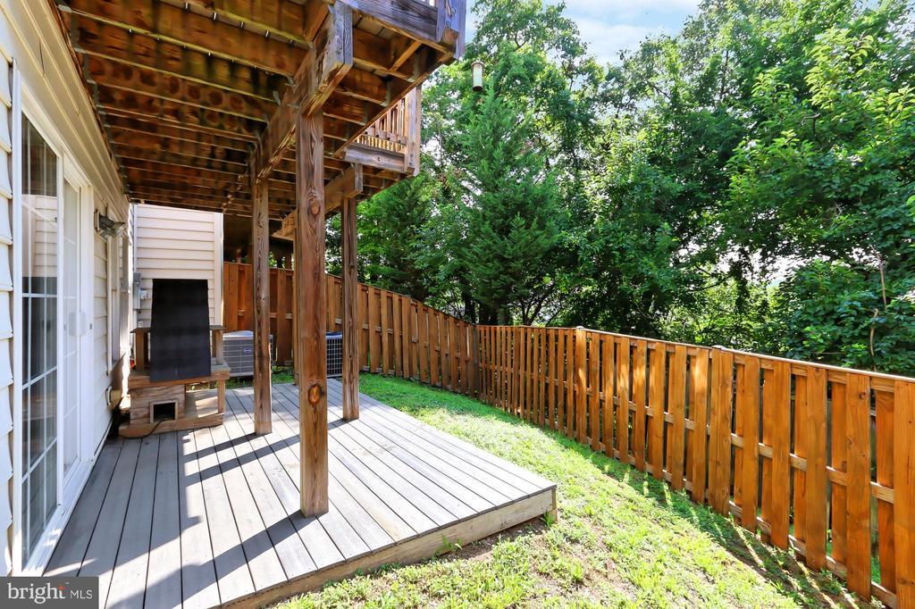 Fully fenced back yard - 3441 25TH CT S, ARLINGTON