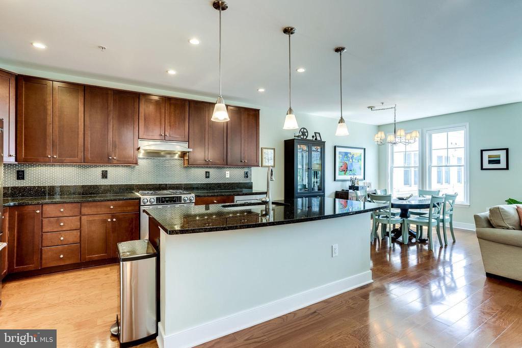 Open concept kitchen - 1418 N RHODES ST #B414, ARLINGTON