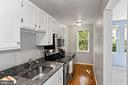 Bright, galley style kitchen with full d/w, - 1801 KEY BLVD #10-506, ARLINGTON