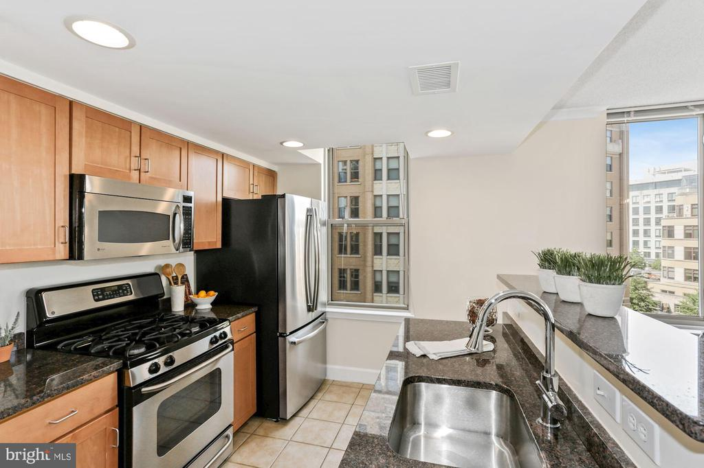 Gourmet kitchen w/ stainless steel appliances. - 1205 N GARFIELD ST #608, ARLINGTON