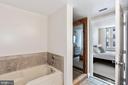 Owner's ensuite large soaking tub. - 1205 N GARFIELD ST #608, ARLINGTON