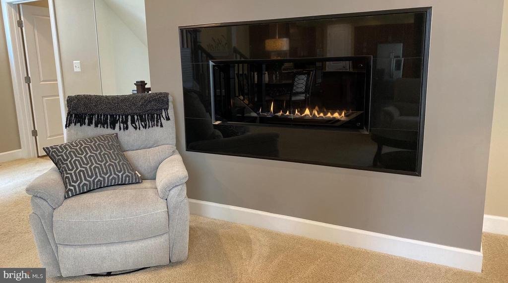 MODERN, FRAME-LESS GAS FIREPLACE - 44533 NEPONSET ST, ASHBURN