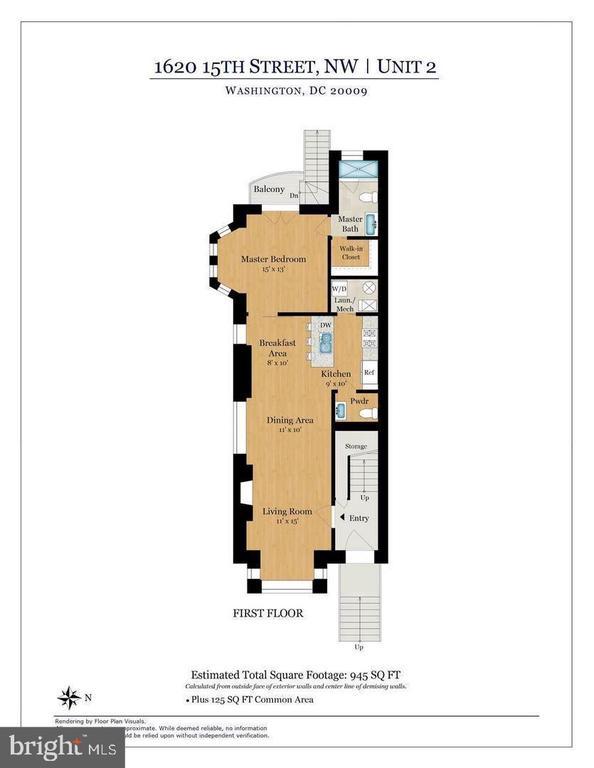 Unit 2 Floor Plan - 1620 15TH ST NW, WASHINGTON
