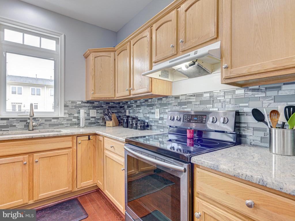 Granite and a gorgeous backsplash - 43592 PURPLE ASTER TER, LEESBURG