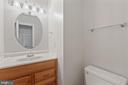 Half-bath on Main Level - 6244 COVERED BRIDGE RD, BURKE