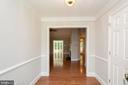 Formal Entry with Chair Rail & Crown Molding - 12984 PINTAIL RD, WOODBRIDGE