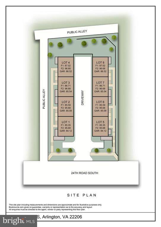 Site Plan - 2827 24TH RD S, ARLINGTON