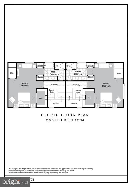 Fourth Floor Master Bedroom Floor Plan - 2827 24TH RD S, ARLINGTON