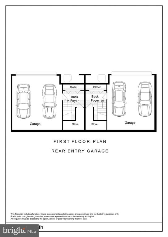 First Floor Rear Entry Garage Floor Plan - 2827 24TH RD S, ARLINGTON