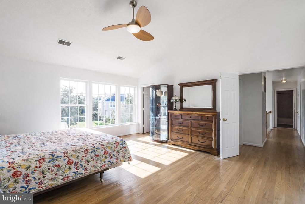 Master bedroom with big windows, vaulted ceiling - 20887 CHIPPOAKS FOREST CIR, STERLING