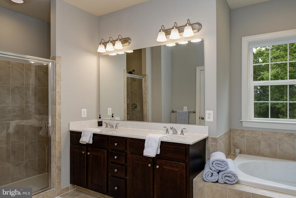 Lux Bath w/dual sinks/large shower/commode closet - 21144 WALKLEY HILL PL, ASHBURN