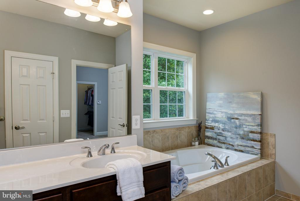 Separate Soaking Tub too! Upgraded tile is a bonus - 21144 WALKLEY HILL PL, ASHBURN