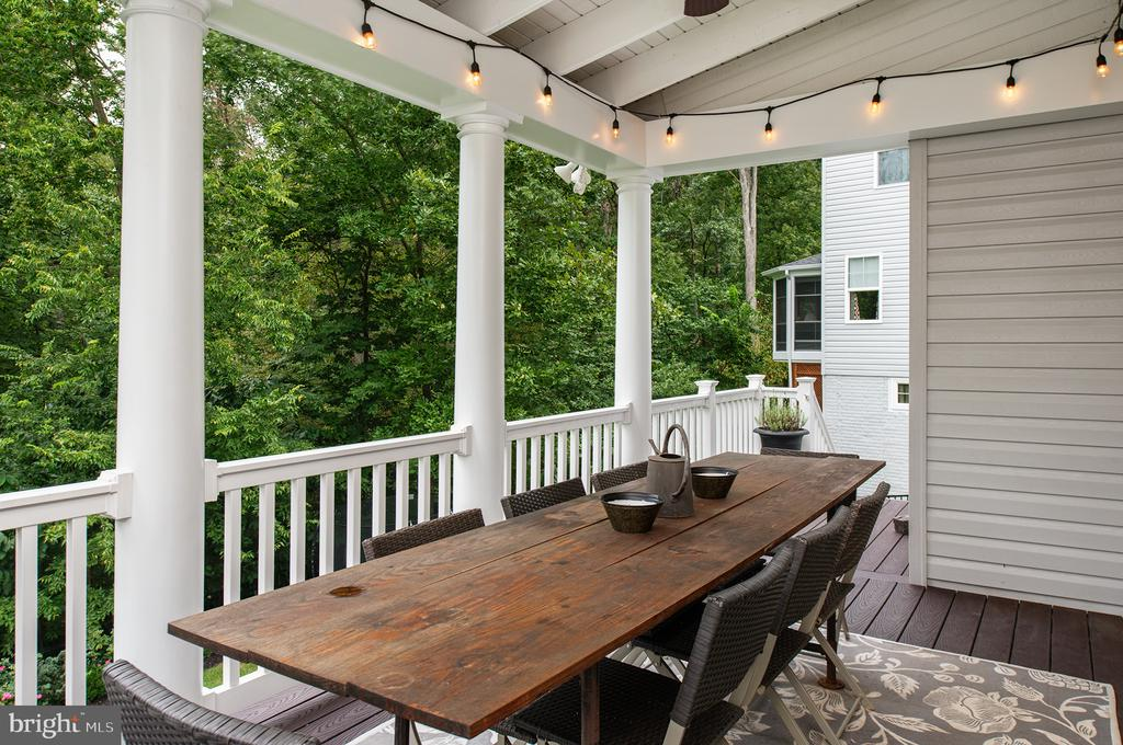 Covered Porch perfect for shade and keeping dry! - 21144 WALKLEY HILL PL, ASHBURN
