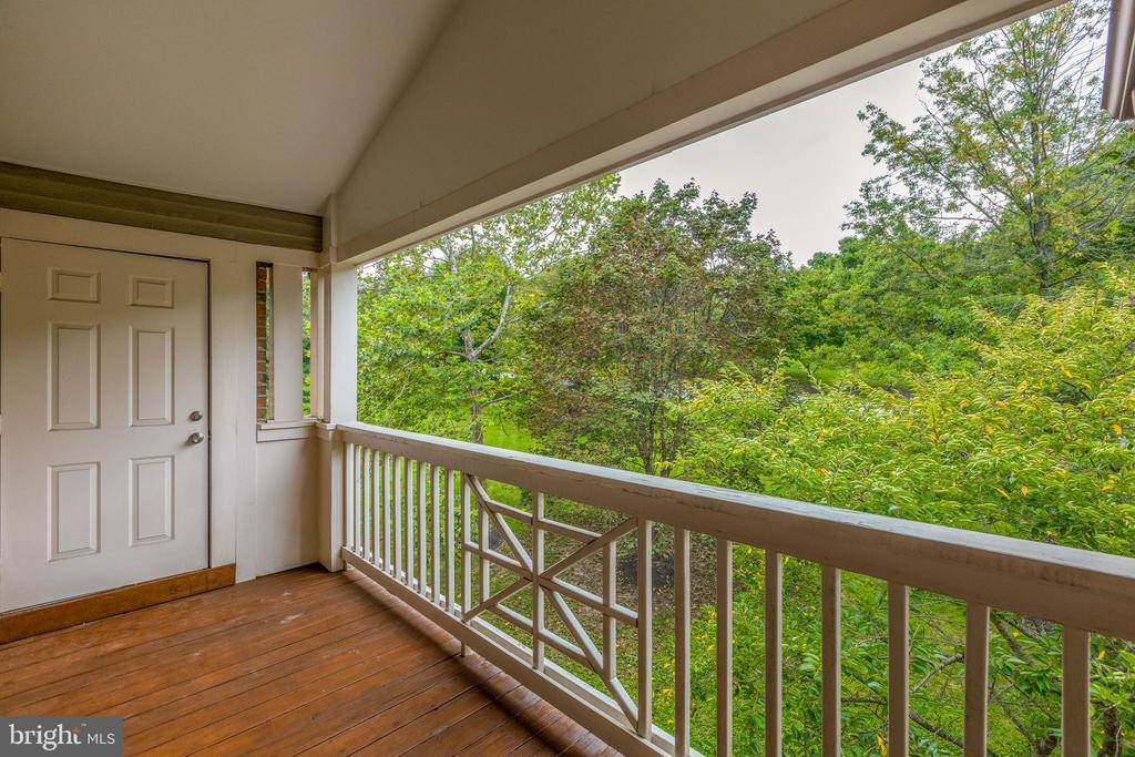 Balcony/ Patio - 7502 ASHBY LN #K, ALEXANDRIA