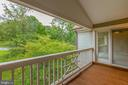 Balcony/Patio - 7502 ASHBY LN #K, ALEXANDRIA