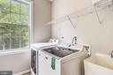 Main level laundry room off kitchen - 7132 AYERS MEADOW LN, SPRINGFIELD