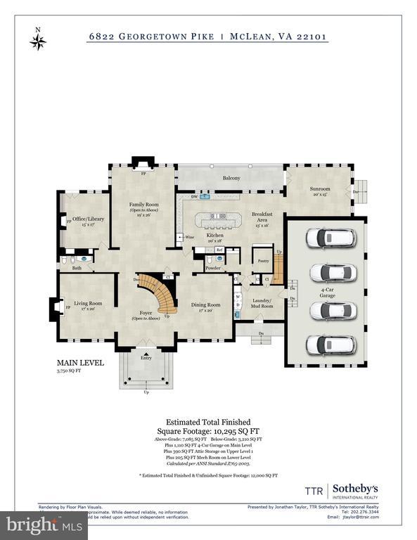 Floor Plan - 6822 GEORGETOWN PIKE, MCLEAN