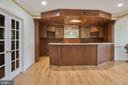 Custom wet bar in finished lower level - 22340 ESSEX VIEW DR, GAITHERSBURG