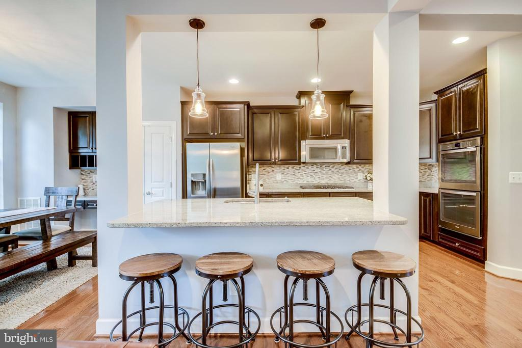 Gourmet Kitchen with large island - 20287 CENTER BROOK SQ, STERLING