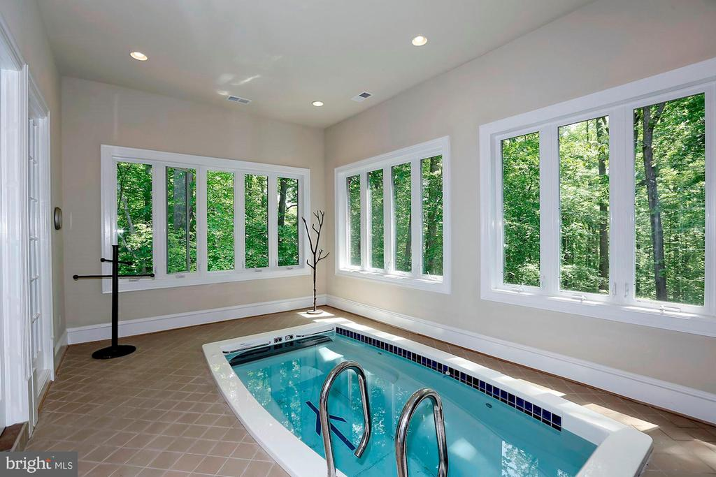 Indoor Pool in In-law Suite - 8225 WOLF RUN SHOALS RD, CLIFTON