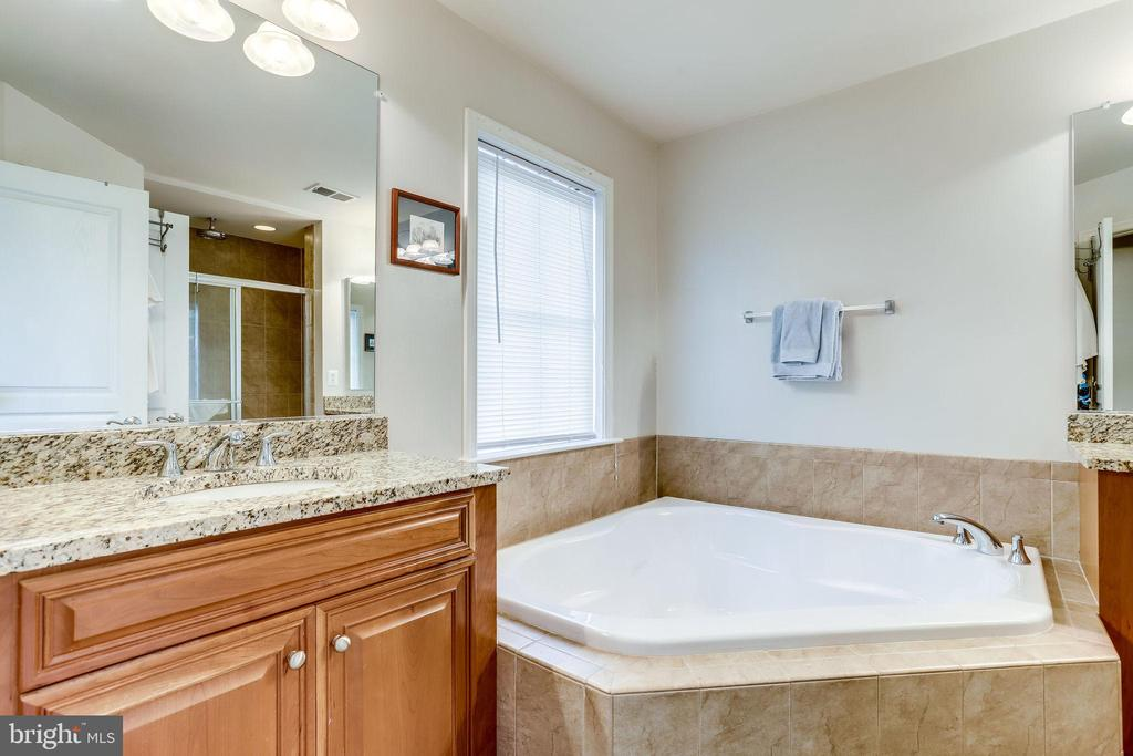 Master Bath w/ Soaking Tub & 2  separate vanities - 2618 S KENMORE CT, ARLINGTON