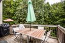 Deck backs to trees & opens up entertaining space - 10003 GRASS MARKET CT, FREDERICKSBURG