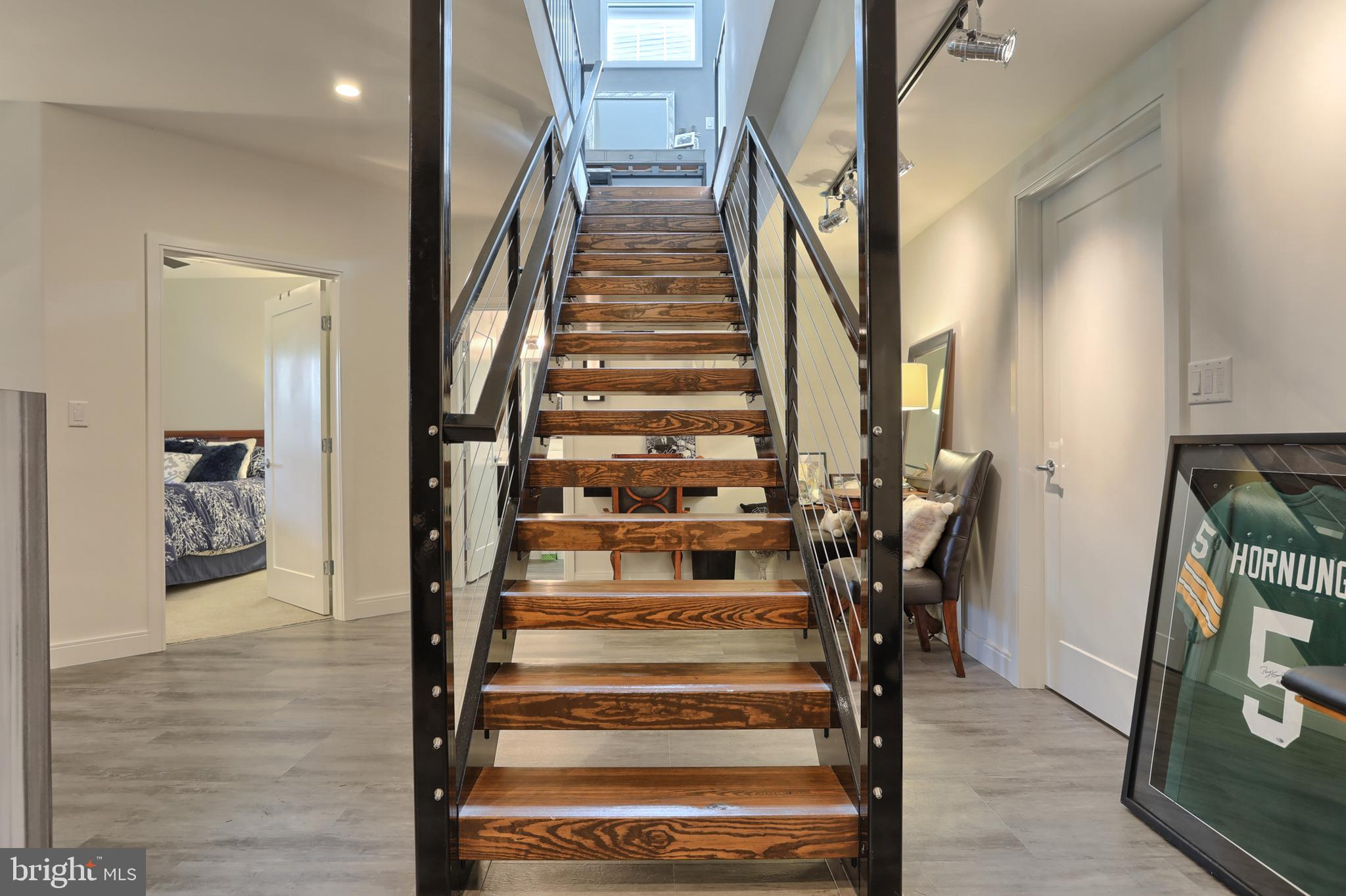 Gorgeous staircase to lower level