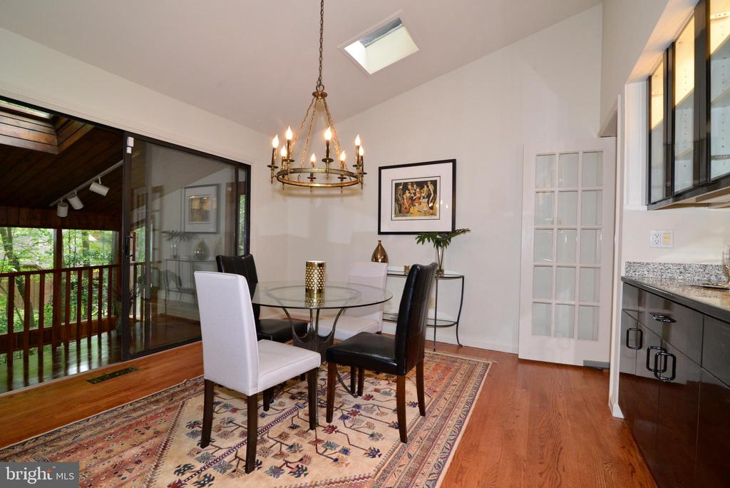 Dining room with view of the Solarium - 11137 GLADE DR, RESTON