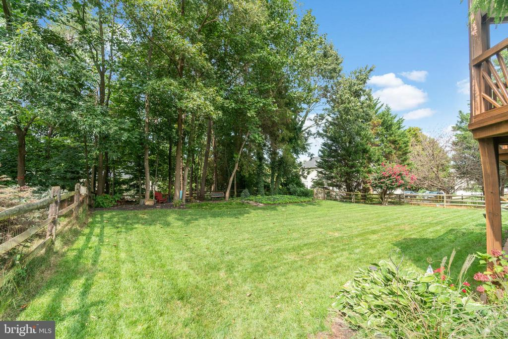 Large rear yard - 46476 MONTGOMERY PL, STERLING