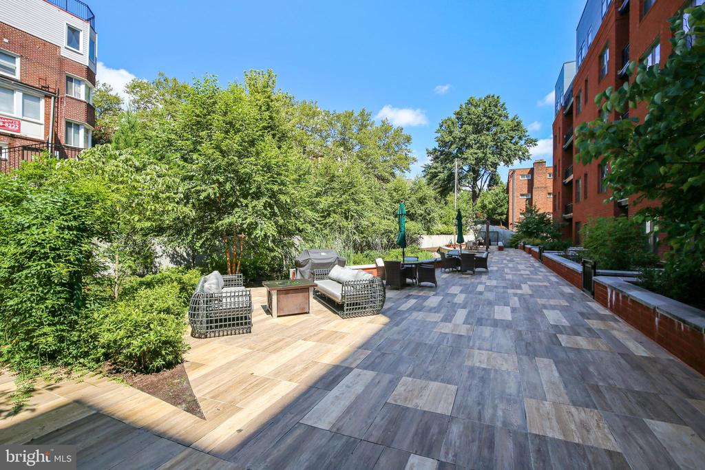 Secluded Landscaped Courtyard - 1411 KEY BLVD #311, ARLINGTON