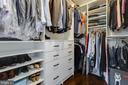 Custom Closet in Master Bedroom - 5717 11TH ST N, ARLINGTON