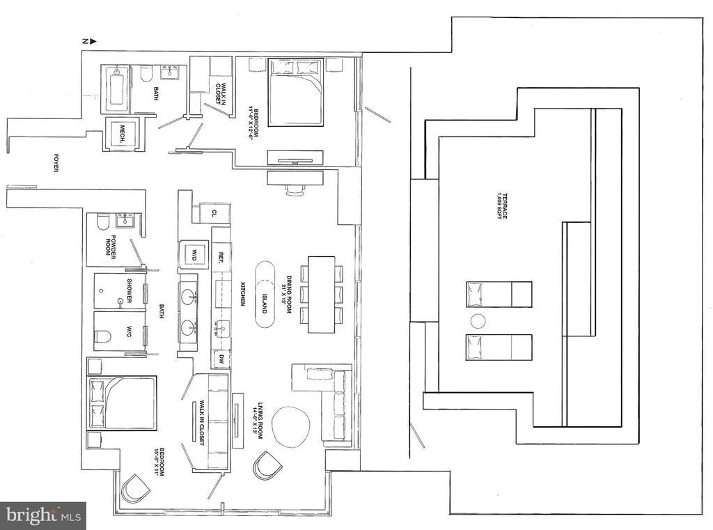Floorplan of unit - 925 H ST NW #810, WASHINGTON