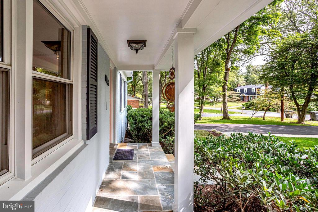 Front Porch with New Columns - 11914 WAYLAND ST, OAKTON