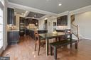 Eat-in kitchen with hardwoods - 20669 PERENNIAL LN, ASHBURN