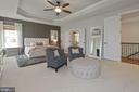 Large primary bedroom on back of house - 20669 PERENNIAL LN, ASHBURN