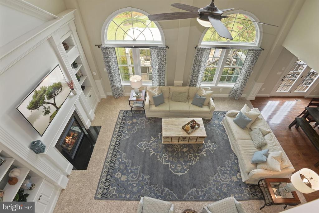 View of family room from upper level landing - 20669 PERENNIAL LN, ASHBURN